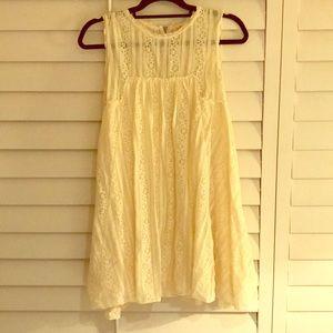 Free People White Babydoll Dress